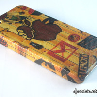iPhone 4 case - Internet Sign with Monkey Apple, GMail, SDCard, Facebook