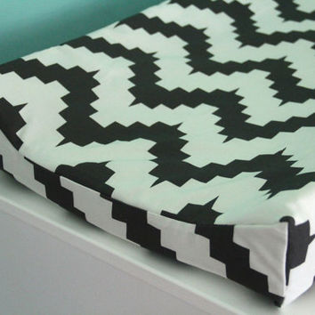 rick rack contoured changing pad cover
