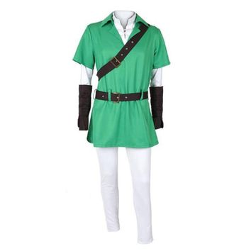 BOOCRE Game The Legend of Zelda: Ocarina of Time Cosplay Link Costumes Unisex Adult Sets halloween Clothing