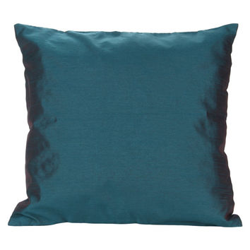 Set of 2 Solid Dark Teal Pillow Cover Plain Dark Teal Pillow Solid Dark Teal Decorative Pillow Teal Accent Pillow Solid Teal Throw Pillow