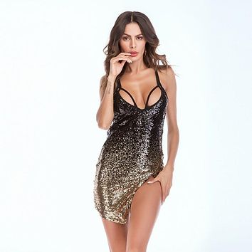MUXU sexy backless suspender sequin dress glitter bodycon mini short club party dresses vestidos summer clothes for women jurken