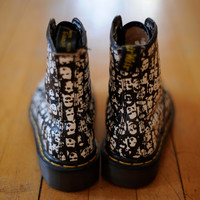 Vintage Rare Dr. Martens Boots with Faces size UK 3 US womens 5 - 5 1/2