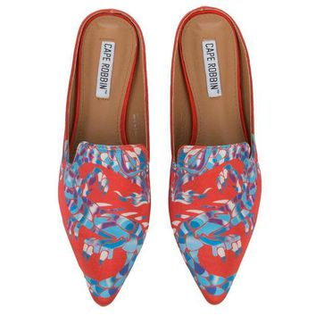 VONE5FW Cape Robbin Cell-13 Women's Red Mules