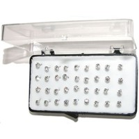 "Set Of 36 1/8"" Crystal Stud Earrings, 18 Pairs, On Nylon (Hypo-Allergenic Plastic) Posts, in Crystal"