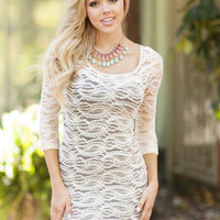 Winter Wonder Lace Dress Ivory