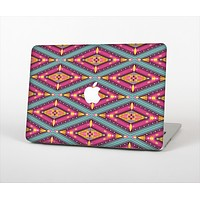 The Pink & Teal Abstract Mirrored Design Skin Set for the Apple MacBook Air 13""