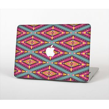 The Pink & Teal Abstract Mirrored Design Skin Set for the Apple MacBook Pro 13""