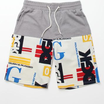 DGK Rough & Rugged Fleece Shorts - Mens Shorts - Grey