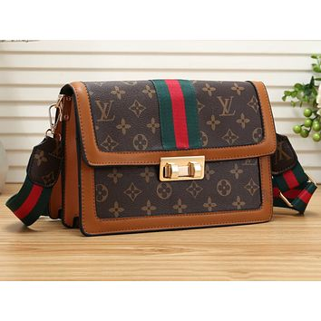 LV Fashion Manyin Lady's Single Shoulder Bag Shopping Bag Brown