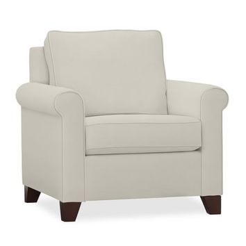 CAMERON ROLL ARM UPHOLSTERED ARMCHAIR