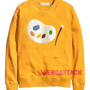 Palette Art gold yellow Unisex Sweatshirts