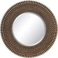 OSP Lyon Wall Mirror, Antique Silver