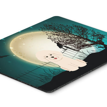 Halloween Scary Bichon Frise Mouse Pad, Hot Pad or Trivet BB2265MP