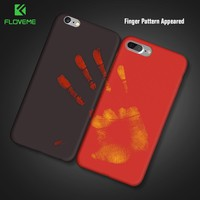 FLOVEME Color Change Cover For iPhone 7 iPhone 6 6S Plus 5S 5 SE Case Thermal Induction Phone Cases For iPhone X iPhone 8 Cases