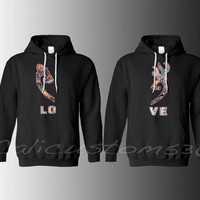 "Country Heart ""LOVE"" Hoodies for Two"
