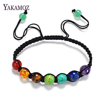 Chakra Natural Stone Bracelets Healing Balance Beads Bracelets & Bangles Fashion Crystal Women Yoga Jewelry Gifts Men Women Boho
