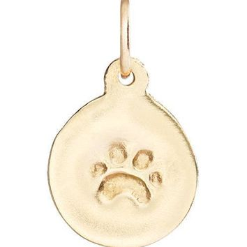 Small Paw Print Disk Charm