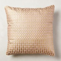 Shimmered Malavika Pillow by Anthropologie in Pink Size: One Size Pillows
