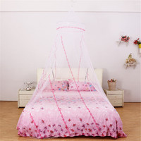Princess Round Bedding Anti Mosquito Net Dome Canopy Curtain Dormitory Bed Net