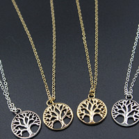 Retro Tree of life Necklace Handmade Necklace Fashion Jewellery Gift For Women Charm Necklace XL027