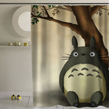 totoro special custom shower curtains that will make your bathroom adorable.