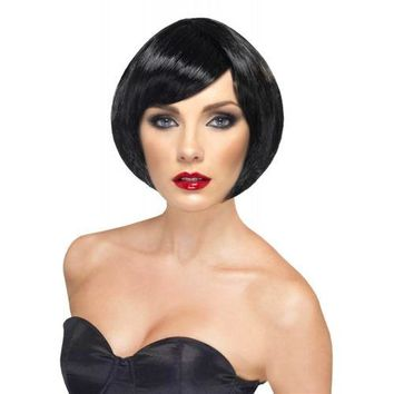 Short Bob Wigs with Bangs for Adult Women Roaring 20s Flapper Girl Costume