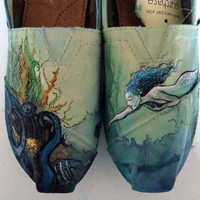 Mermaid TOMS by LamaLand on Etsy