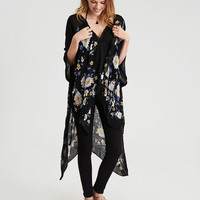 AEO Floral Duster, True Black