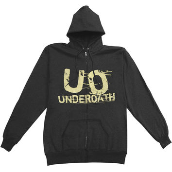 Underoath Men's  Zippered Hooded Sweatshirt Black Rockabilia