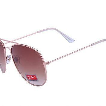 Ray Ban Aviator Classic RB3026 Brown Rose Gold Sunglasses