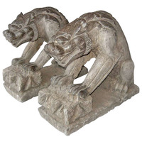 Pair of Stone Gargoyles