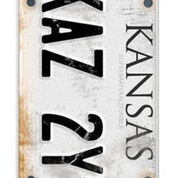 Free Shipping CW TV Play Supernatural License Plate KANSAS KAZ 2Y5 Case Cover for iPhone 4 4s 5 5s 5C 6 6 PLUS