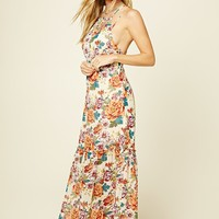 Strappy-Back Floral Maxi Dress