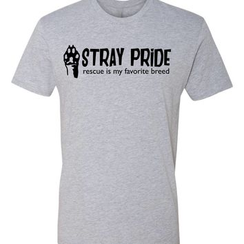Stray Pride, Rescue is my favorite breed Dog Lover Tshirt