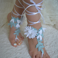 blue barefoot sandals beach wedding barefoot sandals lace barefoot sandals beach lace wedding shoes  lace wedding shoes short lace barefoot