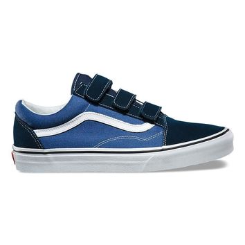 spbest VANS SUEDE CANVAS OLD SKOOL V - DRESS BLUES TRUE NAVY a6dcc8d64