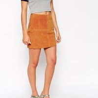ASOS Mini Skirt In Suede