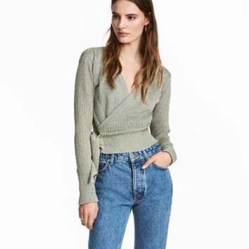H&M Knit Wrapover Sweater $49.99