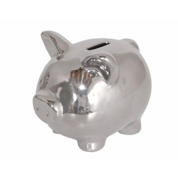 77415 Ceramic Piggy Bank - Benzara