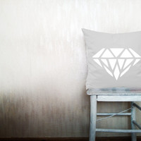 Diamond pillow geometric decorative throw pillow gray triangle pillow arrow pillow throw outdoor pillows minimal decor 12x16 inches ohtteam