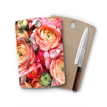 Happy Roses Rectangle Cutting Board Trendy Unique Home Decor Cheese Board