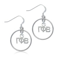 Gamma Phi Beta Open Drop Earrings