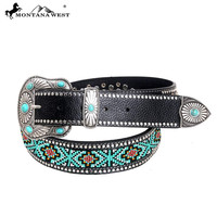 Montana West BT-026 Western Aztec Hand Beaded Belt