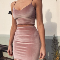 New Fashion Pink Women 's Tube Top Halter Top Halter Dress