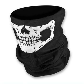 Bicycle Ski Skull Half Face Mask Ghost Scarf  Shipping Multi Use Neck Warmer COD Outdoor Sports Skiing Protection Collars P4