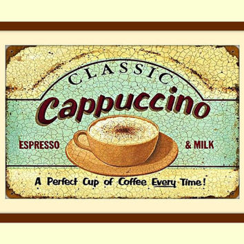 Metal Wall Art, Coffee Wall Art, Coffee Wall Decor, Coffee Sign, Coffee Art, Vintage Metal Signs, Tea Art Print, Diner Sign, Kitchen Decor