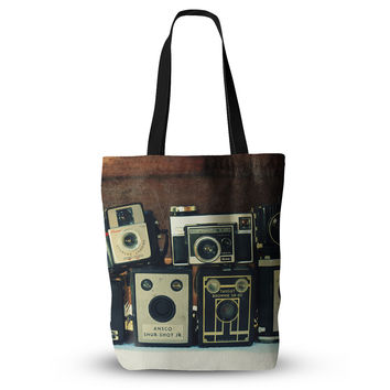"""Robin Dickinson """"Through the Years"""" Vintage Camera Everything Tote Bag"""