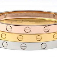 FREE SHIPPING / Cartier Inspired Love by LaCoquetteBoutique
