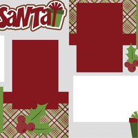 A Visit with Santa Premade 2-page 12 X 12 Scrapbooking Page Layout or Page Kit