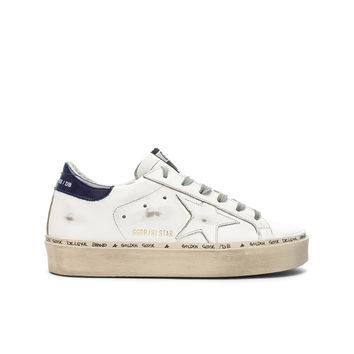 Golden Goose Hi Star Sneakers in White & Blue | FWRD